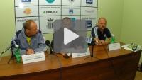 Sandecja - Olimpia Elbląg 1-1, konferencja prasowa