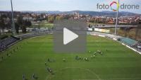 Sandecja - Miedź Legnica 1-0 (0-0), relacja z powietrza