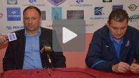 Kolejarz Stróże - Sandecja 0-0, pomeczowa konferencja