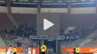 Zagłębie Lubin - Sandecja, Puchar Polski 1/4, doping kibiców