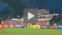 Sandecja - Zagłębie Lubin 0-5 (0-1), doping kibiców