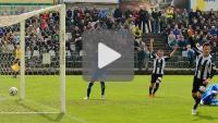 Sandecja - Kolejarz Stróże 1-0 (1-0), skrót meczu