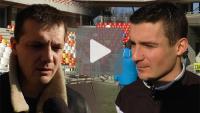 Podbeskidzie - Sandecja 1-1, Matej Nather, Piotr Stach