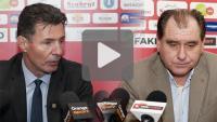 Sandecja - Miedź Legnica 0-4, konferencja prasowa