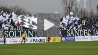 Sandecja - Zawisza Bydgoszcz 4-0 (1-0), oprawa meczowa