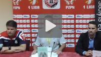 Drutex Bytovia - Sandecja 2-0 (1-0), pomeczowa konferencja