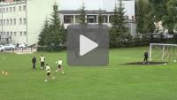 Okres przygotowawczy, trening na boisku Dunajca Nowy Sącz