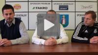 Sandecja - Kolejarz Stróże, przedmeczowa konferencja prasowa
