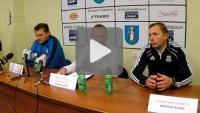Sandecja - Kolejarz Stróże 1-1, pomeczowa konferencja prasowa