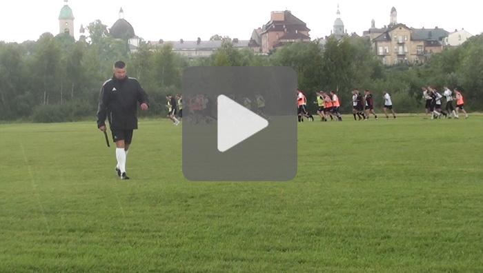 Okres przygotowawczy, trening na boisku Heleny Nowy Sącz