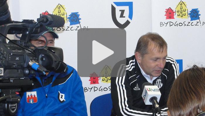 Zawisza Bydgosz - Sandecja, pomeczowa konferencja prasowa