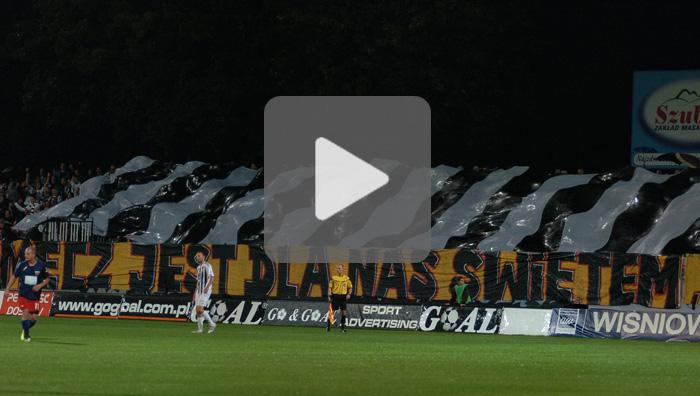 Sandecja - Polonia Bytom, oprawa meczu