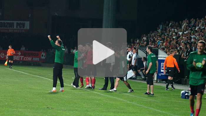 Sandecja - Warta Poznań 0-3, bramki z meczu