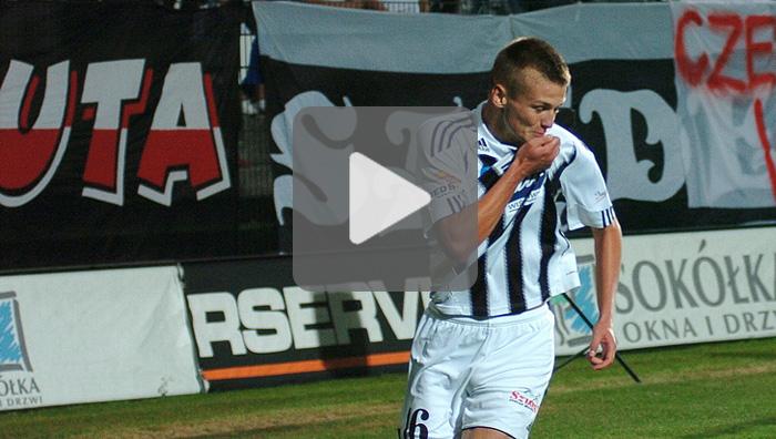 Sandecja - Piast Gliwice 4-0, bramki z meczu