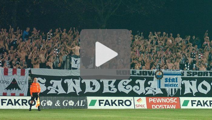 Sandecja - Zawisza Bydgoszcz 0-1, doping kibiców