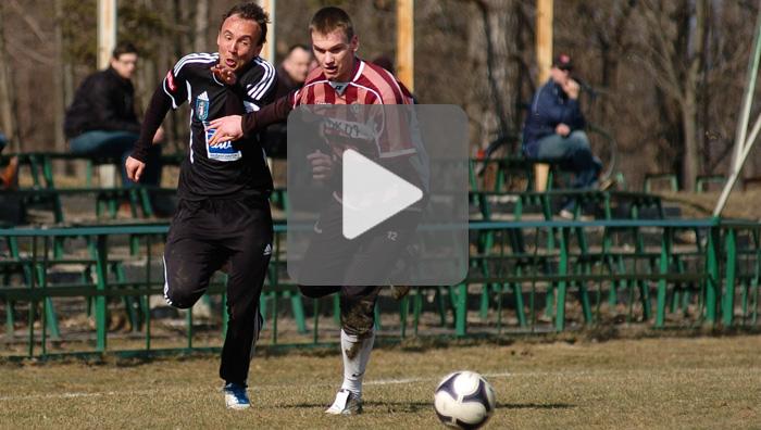 Sandecja - Garbarnia Kraków 4-0, sparing, sezon 2011/2012, skrót