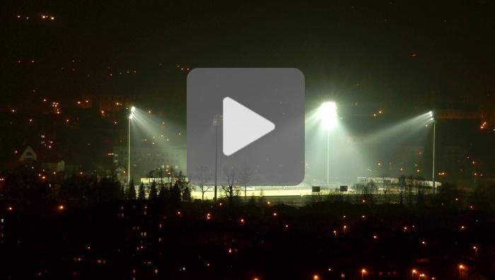 Uruchomienie oświetlenia stadionu